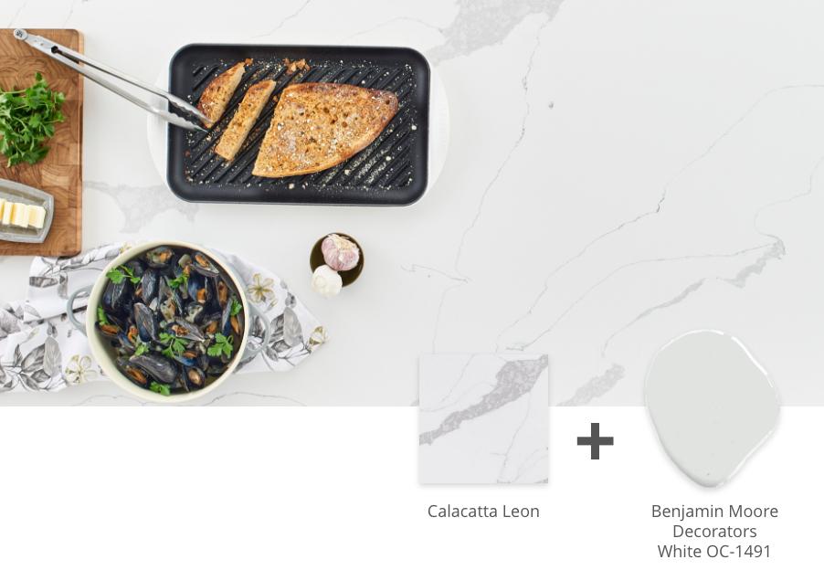 calacatta leon quartz countertop