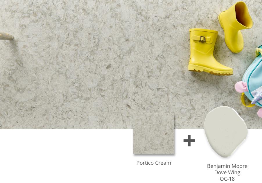 portico cream quartz countertop