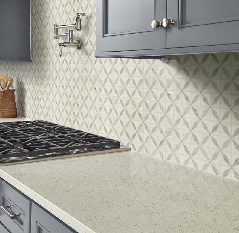 marble vintage look backsplash tile