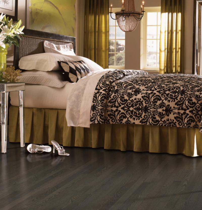 luxury vinyl tile floor in a bedroom
