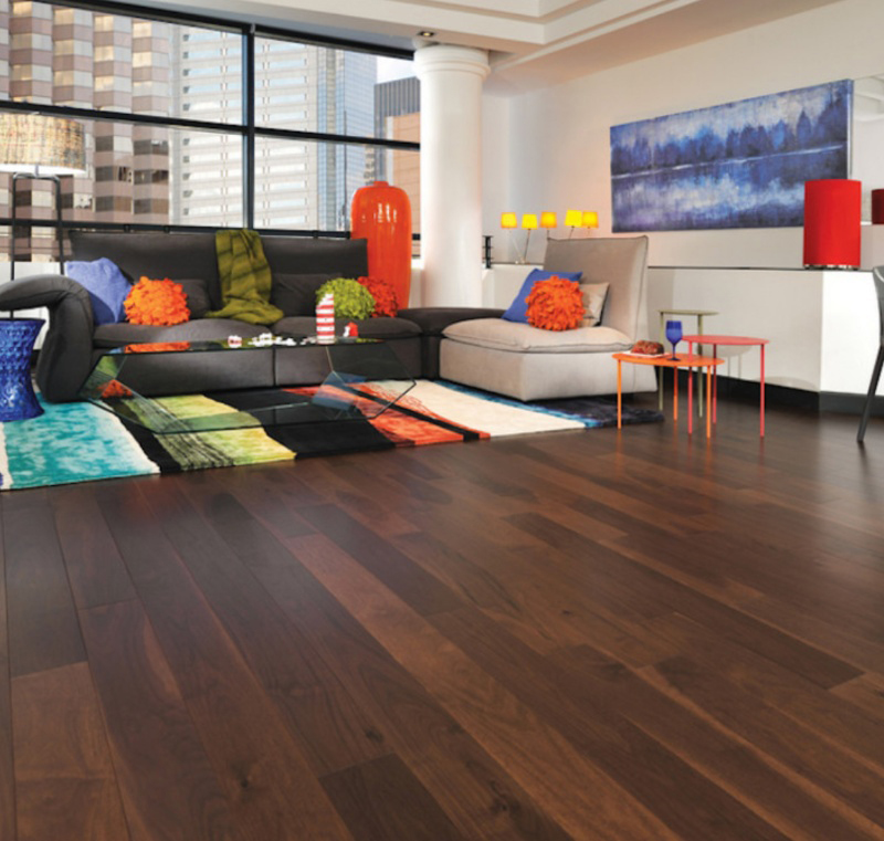 Deep Wood Look Vinyl Flooring With Bright Right Color