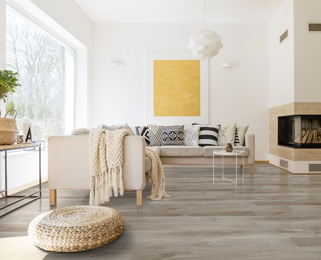 LVT flooring in living room