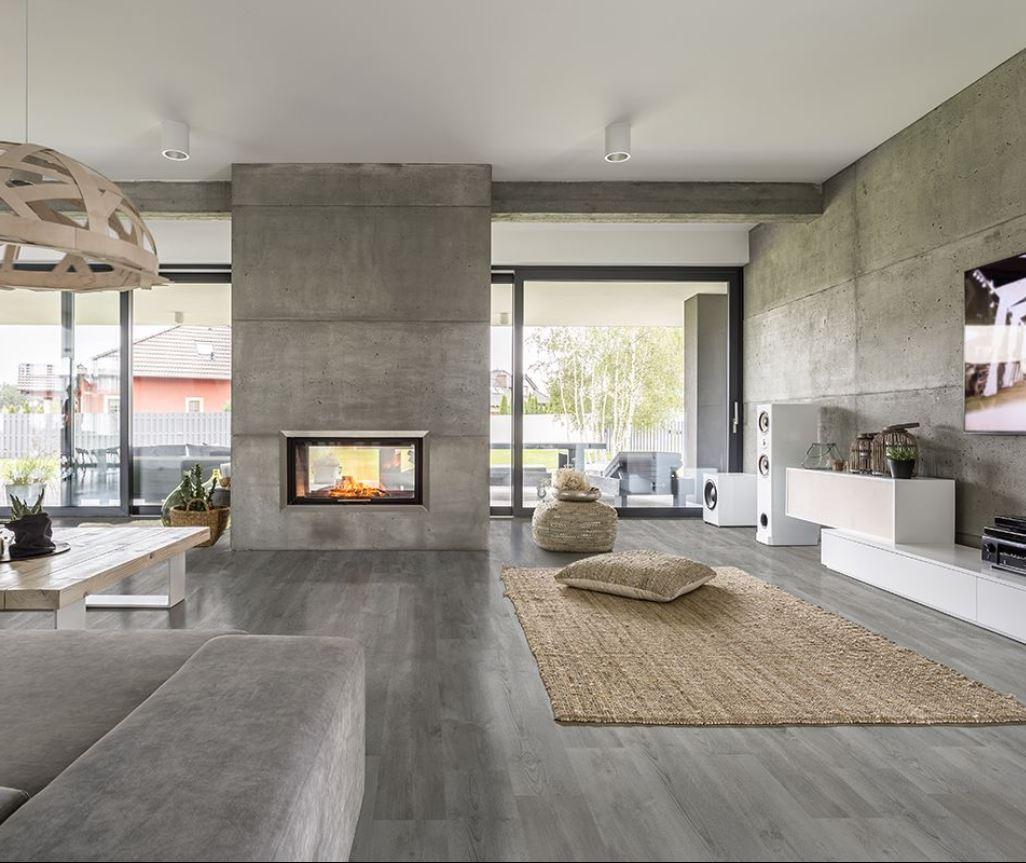 luxury vinyl flooring in family room