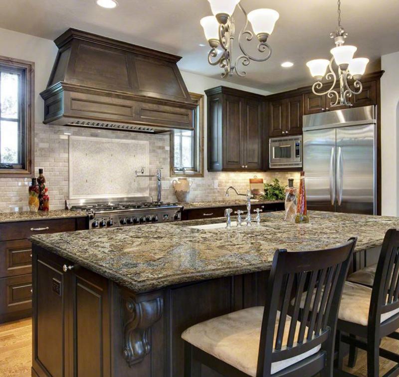 gold granite countertop