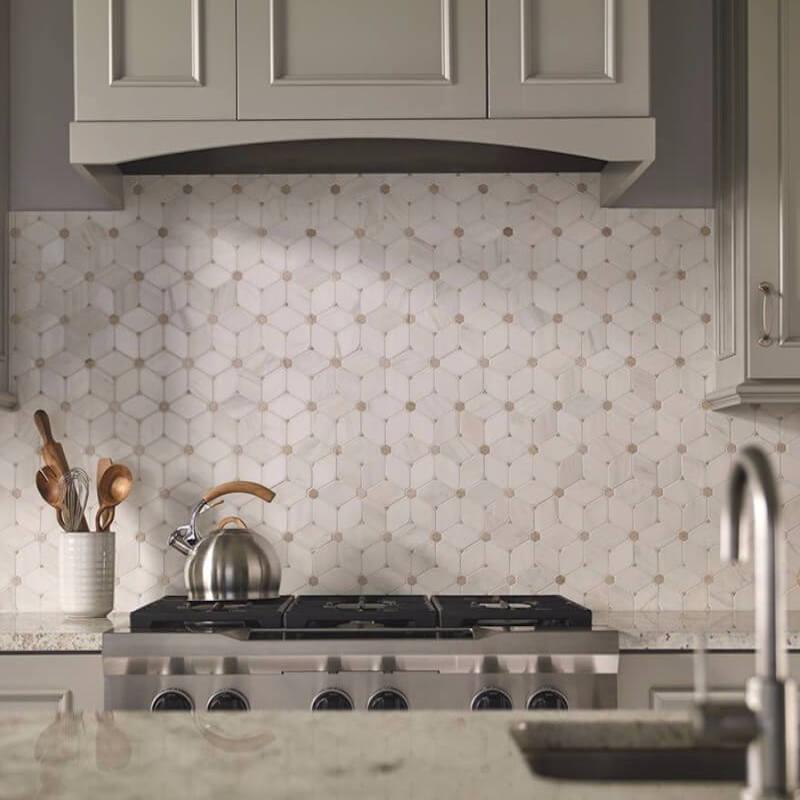 pattern mosaic kitchen backsplash