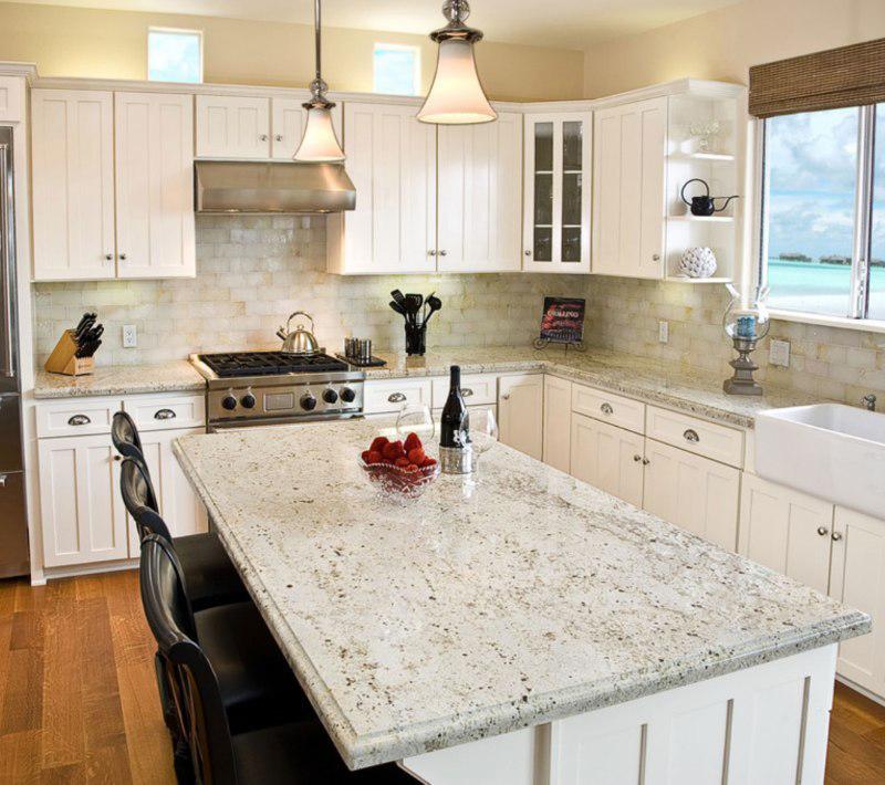 Colonial White Granite Countertop Kitchen