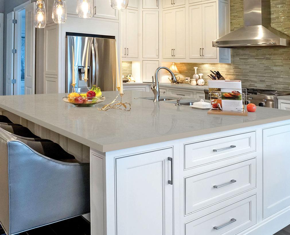 quartz countertop kitchen island