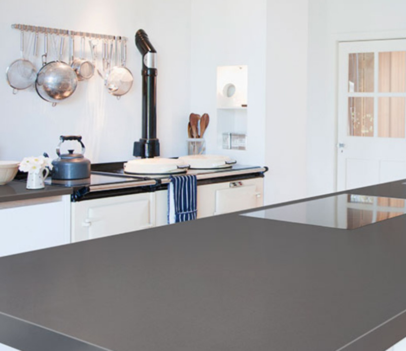 concrete look quartz countertop