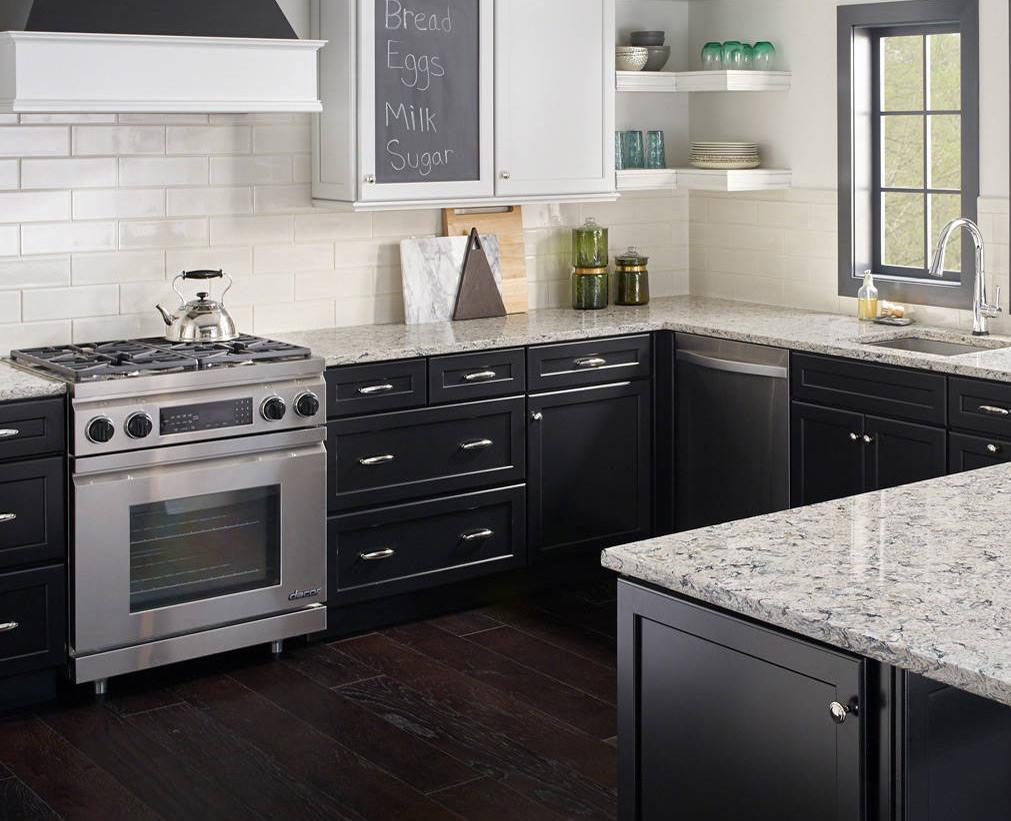 granite look quartz in kitchen
