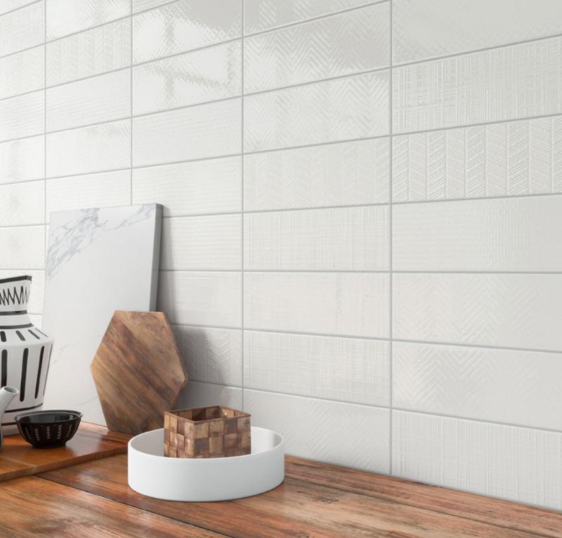3d textured backsplash tile