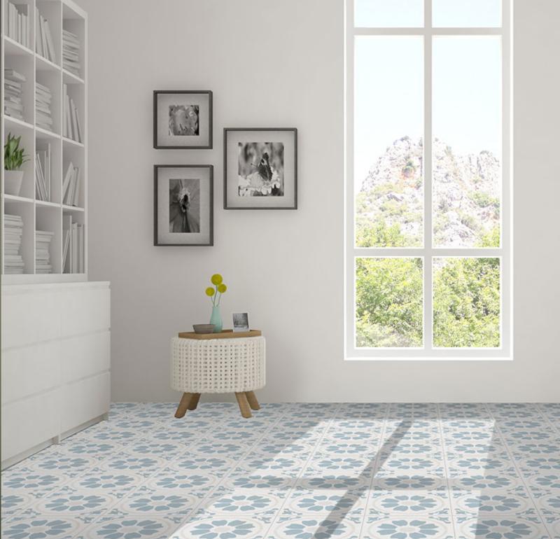 geometric backsplash tile