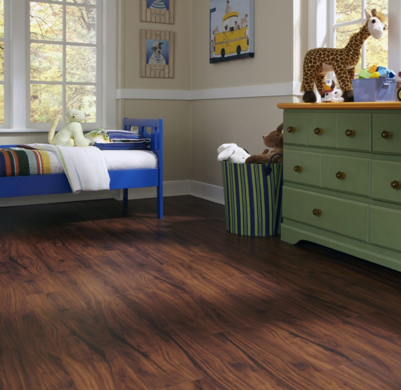 childs room with luxury vinyl tile