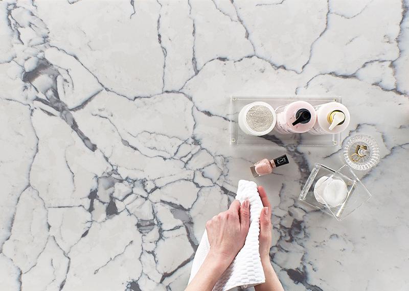 beautiful quartz countertop