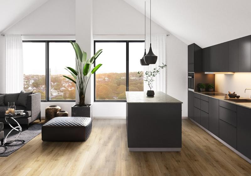 luxury vinyl tile in the kitchen