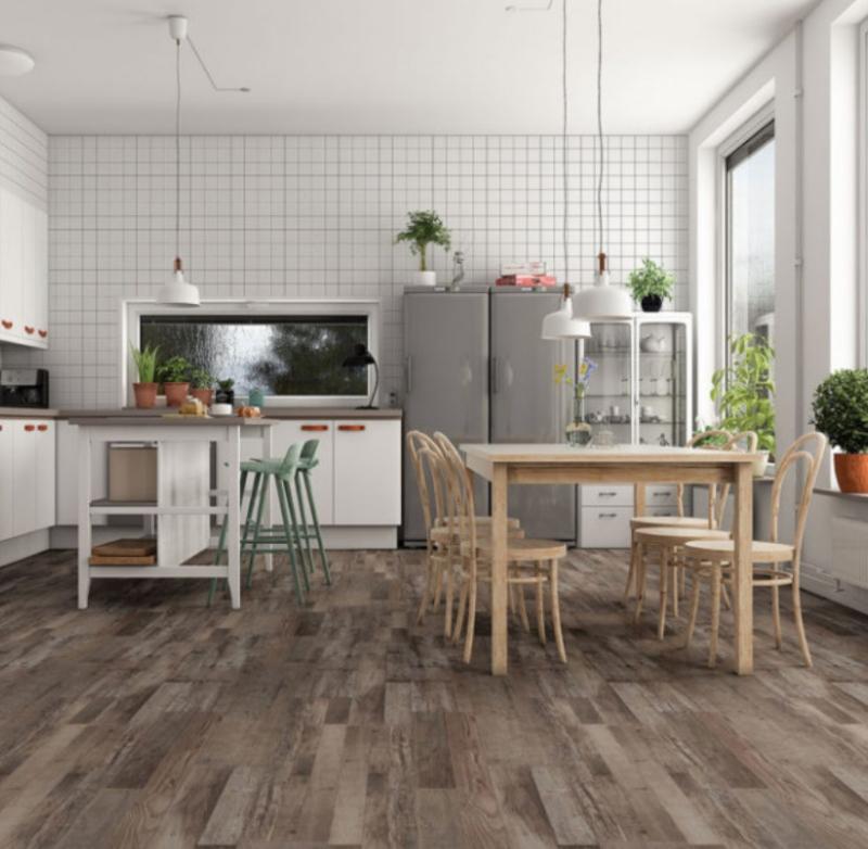 vinyl plank flooring in the kitchen
