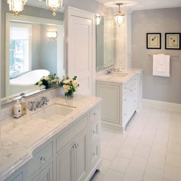 white marble look kitchen quartz countertop