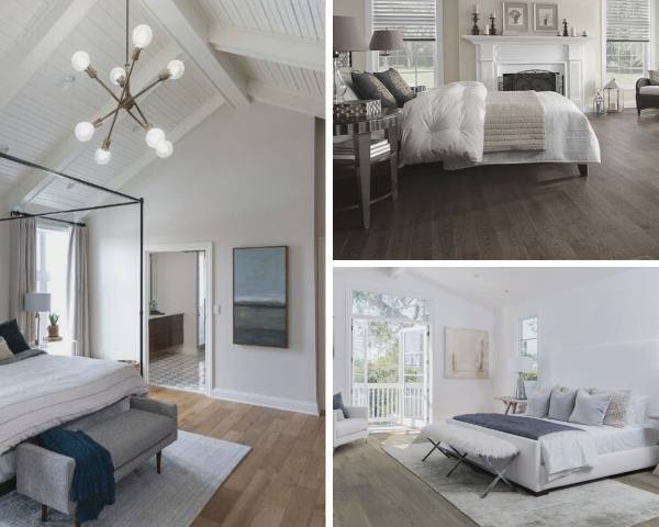 luxury vinyl planks in bedroom