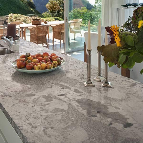 granite grey smokey color kitchen