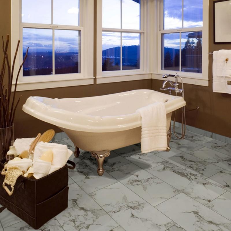 marble look porcelain tile floor