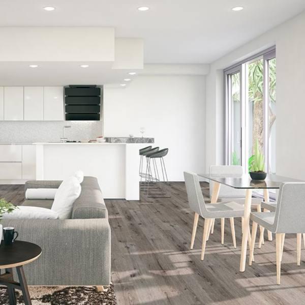 Does Luxury Vinyl Tile Look, Grey Vinyl Plank Flooring Living Room