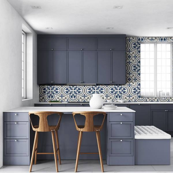 Encaustic Porcelain Tile Patterns on Floors and Walls