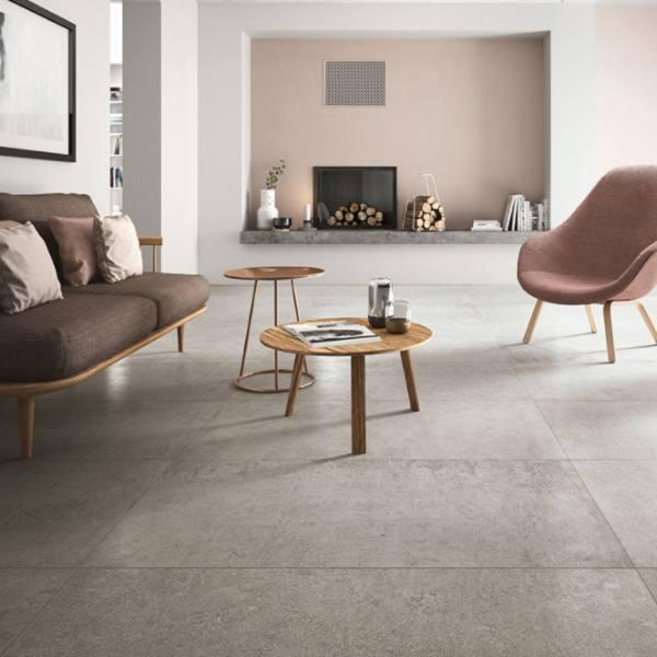porcelain concrete tile for alfresco indoor living