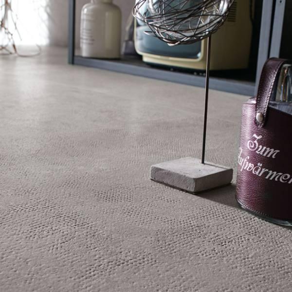 texture close up of concrete look porcelain tile flooring