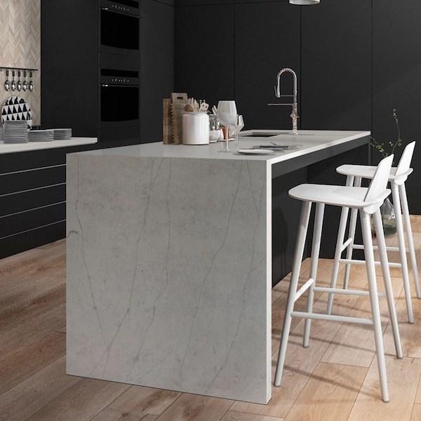 2fcalacatta clara quartz kitchen countertop