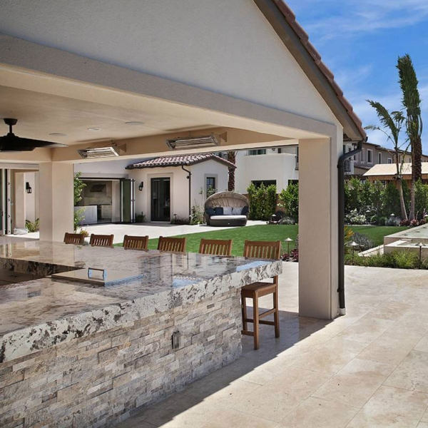 gray and brown with cream background granite outdoor countertop