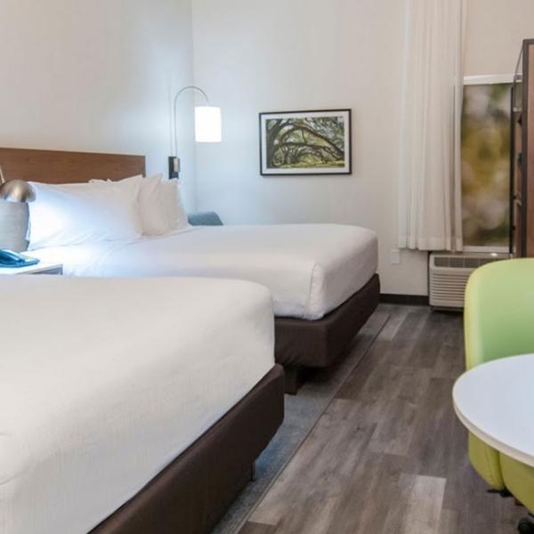 hotel LVT wood flooring