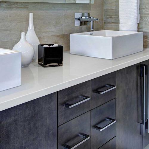 quartz countertop bathroom vanity