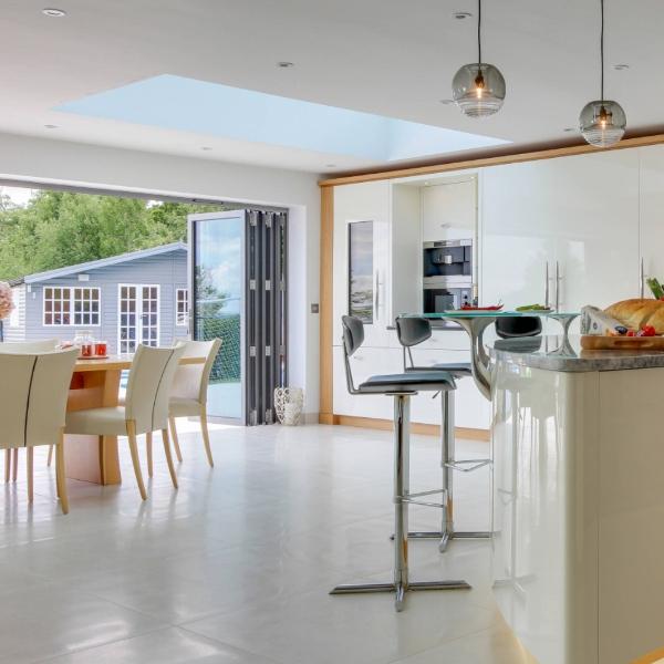 tile flooring outdoor transitional kitchen