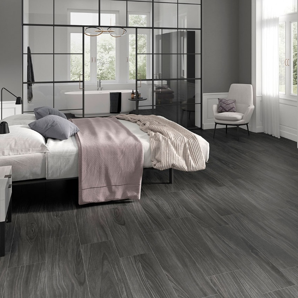 porcelain wood look plank flooring