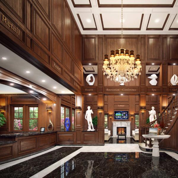 black_marble flooring for hotel lobby