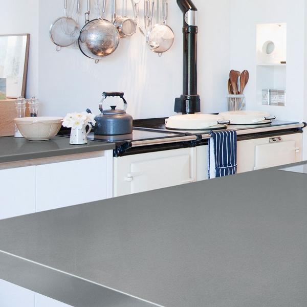 concrete look quartz kitchen countertop