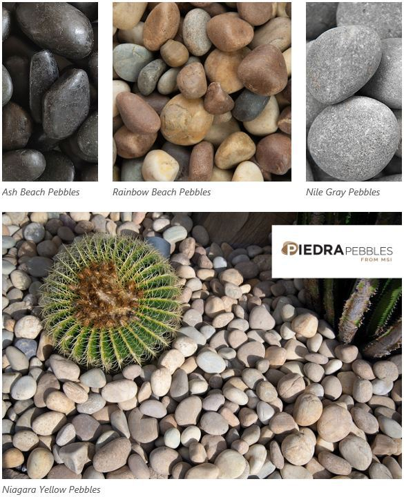 creative ways to use pebbles in landscape