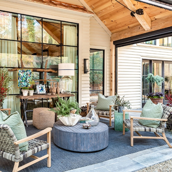 pavers porcelain for rustic outdoor living area