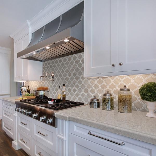 specialty shaped backsplash tile