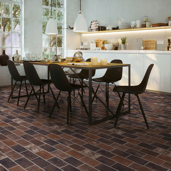 get the look of reclaimed brick with porcelain tile