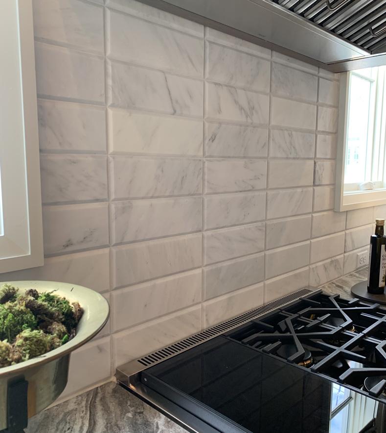 Arabescato Carrara Marble Backsplash Tile