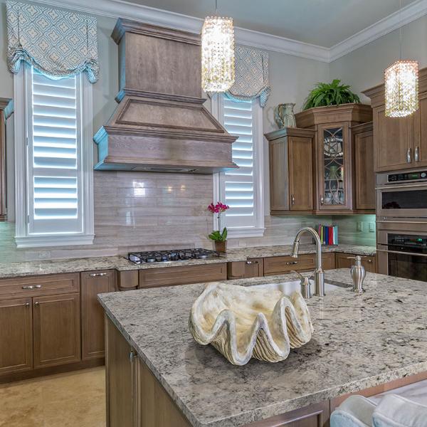 granite classic kitchen with elegant style