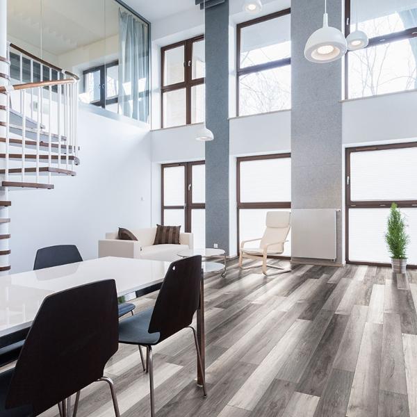 vinyl plank flooring in modern home