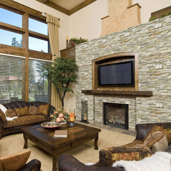 stacked+stone+oversized+fireplace+and+tv+living+room