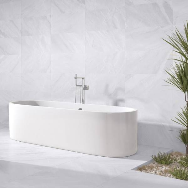 marble look white and soft gray porcelain