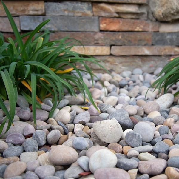 quartzite beach pebbles for landscaping
