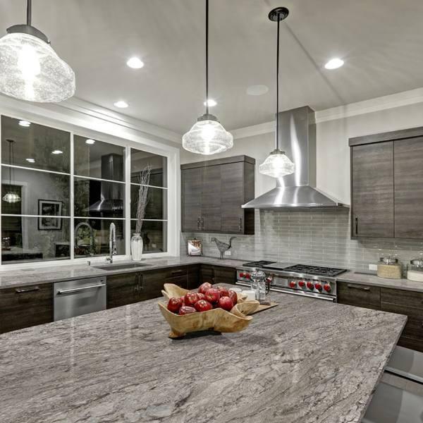 granite countertop with gray tones