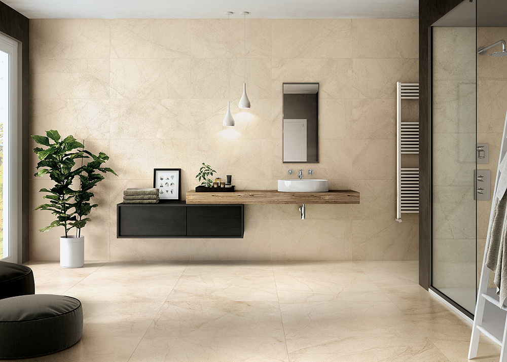 travertine look time for bathroom