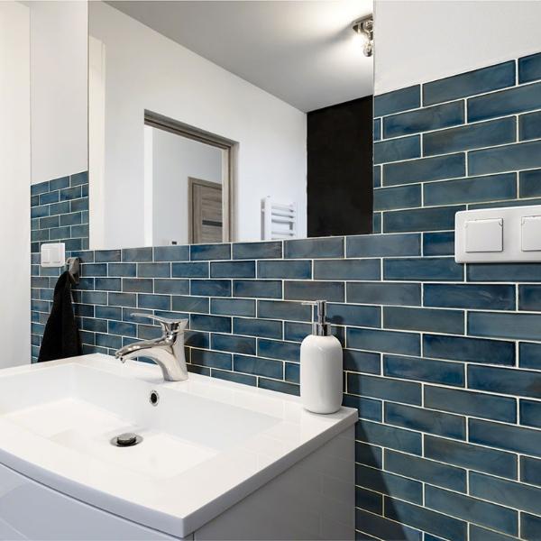 ocean inspired bleu tile for bathroom backsplash
