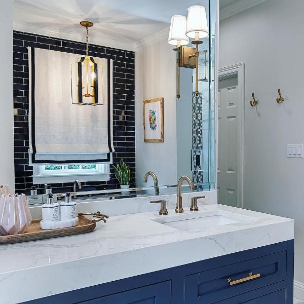 quartz hotel bathroom vanity