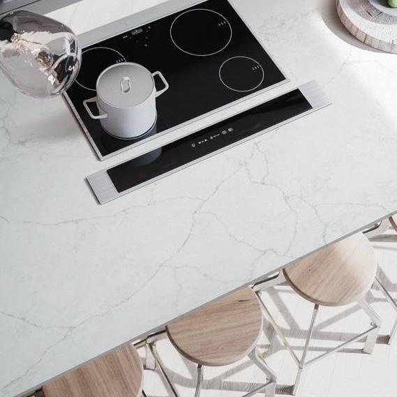 quartz marble look slab countertop